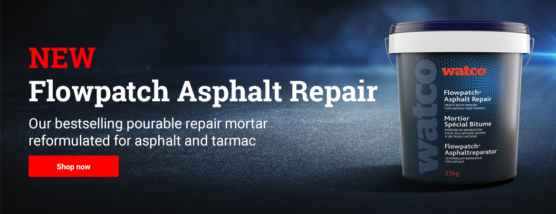 Flowpatch Asphalt Repair our bestselling pourable repair mortar reformulated for asphalt and tarmac